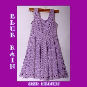 Blue Rain Lavender Crochet Lace Dress - Sleeveless